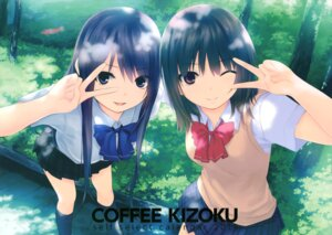 Rating: Safe Score: 61 Tags: aoyama_sumika coffee-kizoku seifuku shiramine_rika User: Twinsenzw