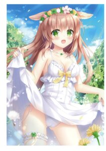 Rating: Questionable Score: 38 Tags: animal_ears cameltoe cleavage dress kohinata_hoshimi pantsu skirt_lift string_panties summer_dress User: Arsy