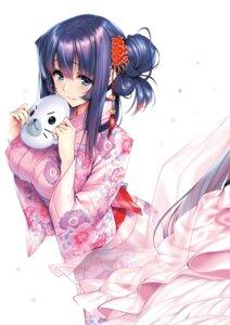 Rating: Safe Score: 55 Tags: amakano azarashi_soft kimono piromizu User: kiyoe