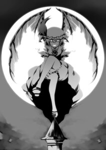 Rating: Safe Score: 10 Tags: dress monochrome remilia_scarlet touhou tsukimoto_aoi wings User: charunetra