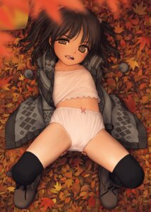 Rating: Questionable Score: 115 Tags: ass_grab cameltoe loli open_shirt pantsu rustle thighhighs User: gnarf1975