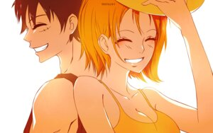 Rating: Safe Score: 15 Tags: cleavage kristallin-f monkey_d_luffy nami one_piece signed User: charunetra