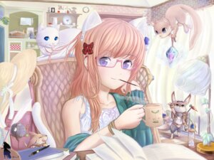 Rating: Safe Score: 19 Tags: animal_ears megane neko nekomimi roddo wallpaper User: charunetra