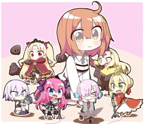 Rating: Safe Score: 15 Tags: assassin_of_black_(fate/apocrypha) bandages chibi ereshkigal_(fate/grand_order) fate/grand_order female_protagonist_(fate/grand_order) ibaraki_douji_(fate/grand_order) lancer_(fate/extra_ccc) mash_kyrielight megane pantsu saber_extra tagme thighhighs User: NotRadioactiveHonest