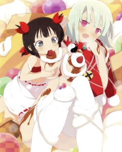 Rating: Questionable Score: 56 Tags: breast_grab breasts cream kagura_(senran_kagura) loli naked naraku_(senran_kagura) senran_kagura thighhighs yaegashi_nan yuri User: Radioactive