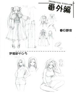 Rating: Safe Score: 19 Tags: hashimoto_takashi monochrome sketch yosuga_no_sora User: 清宫真结希
