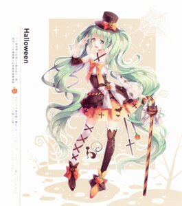 Rating: Safe Score: 61 Tags: dress halloween hatsune_miku thighhighs tid vocaloid User: yong