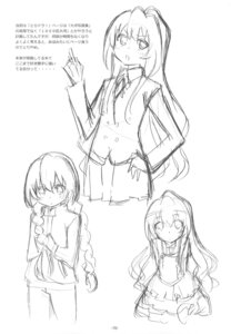 Rating: Safe Score: 4 Tags: aisaka_taiga monochrome sato satosute sketch toradora! User: Radioactive