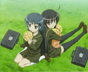 Rating: Safe Score: 9 Tags: konoe_fumina screening seifuku shakugan_no_shana shana thighhighs User: Sangwoo