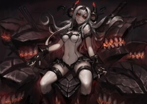 Rating: Safe Score: 80 Tags: air_defense_hime_(kancolle) bodysuit gods horns kantai_collection User: Mr_GT