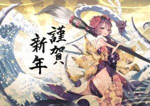 Rating: Safe Score: 40 Tags: fate/grand_order japanese_clothes katsushika_hokusai_(fate/grand_order) open_shirt teddy_(khanshin) User: sym455