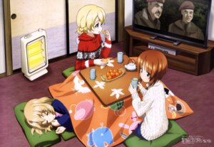 Rating: Safe Score: 44 Tags: darjeeling girls_und_panzer itou_takeshi katyusha nishizumi_miho sweater User: drop