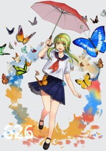 Rating: Safe Score: 19 Tags: gumi seifuku umbrella vocaloid yumao User: KazukiNanako