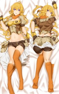 Rating: Questionable Score: 73 Tags: ass bike_shorts cleavage dakimakura koko_shiguma open_shirt rwby thighhighs yang_xiao_long User: Mr_GT
