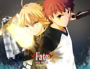 Rating: Questionable Score: 16 Tags: armor emiya_shirou fate/stay_night fate/stay_night_unlimited_blade_works fate/zero magicians saber sword User: sylver650