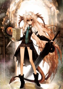 Rating: Safe Score: 11 Tags: horns megane michi_ta sword tail User: charunetra