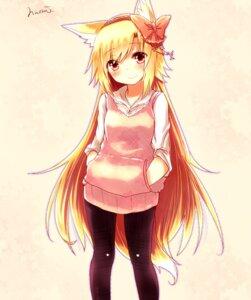 Rating: Safe Score: 48 Tags: animal_ears kitsune naomi_(sekai_no_hate_no_kissaten) pantyhose tail User: 椎名深夏