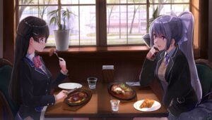 Rating: Safe Score: 38 Tags: akasa_ai higuchi_kaede nijisanji seifuku sweater tsukino_mito User: hiroimo2