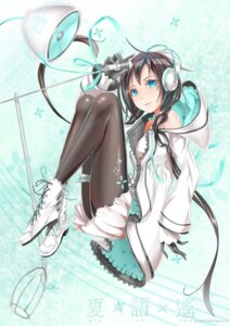 Rating: Safe Score: 32 Tags: ass dress headphones pantyhose shijiu_(adamhutt) utau xia_yu_yao User: Zenex