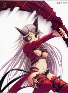 Rating: Questionable Score: 10 Tags: aldra kantaka queen's_blade sword thighhighs underboob User: admin2