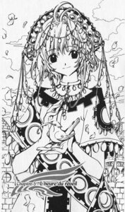 Rating: Safe Score: 10 Tags: clamp kinomoto_sakura monochrome paper_texture tsubasa_reservoir_chronicle User: charunetra