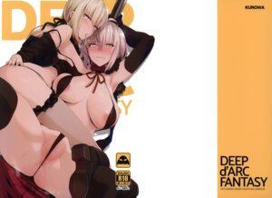 Rating: Questionable Score: 54 Tags: areola bikini cameltoe erect_nipples fate/grand_order fishnets heels jeanne_alter kurowa open_shirt saber saber_alter swimsuits thighhighs thong User: NotRadioactiveHonest