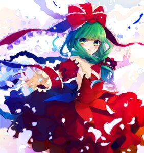 Rating: Safe Score: 12 Tags: cleavage daimaou_ruaeru dress kagiyama_hina no_bra touhou User: charunetra