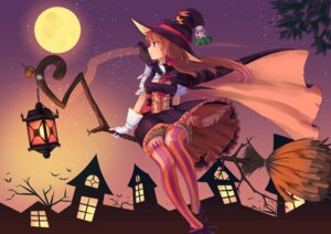 Rating: Safe Score: 49 Tags: bloomers dress emuki_(armies_soul) halloween thighhighs witch User: Romio88