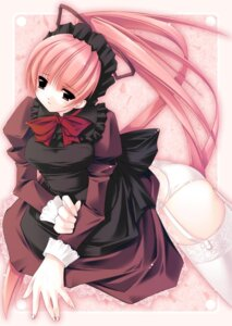 Rating: Questionable Score: 18 Tags: jian maid pantsu stockings thighhighs User: Lore