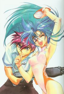 Rating: Safe Score: 7 Tags: chidori_kaname full_metal_panic sagara_sousuke shikidouji swimsuits User: Feito