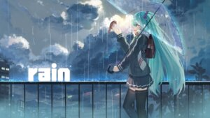 Rating: Safe Score: 84 Tags: baisi_shaonian hatsune_miku landscape seifuku thighhighs umbrella vocaloid User: Mr_GT