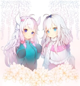 Rating: Safe Score: 46 Tags: cosplay crossover eromanga-sensei horns izumi_sagiri kanna_kamui kobayashi-san_chi_no_maid_dragon tp_(kido_94) User: Mr_GT