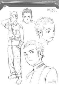 Rating: Safe Score: 5 Tags: character_design kusanagi_kunihito male monochrome range_murata shangri-la sketch User: Share