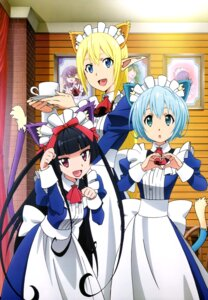 Rating: Safe Score: 90 Tags: animal_ears gate:_jieitai_kanochi_nite_kaku_tatakaeri lelei_la_lelena maid nekomimi pointy_ears rory_mercury tail tuka_luna_marceau User: drop