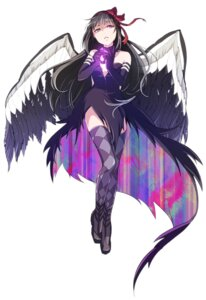 Rating: Safe Score: 30 Tags: akemi_homura null_(chronix) puella_magi_madoka_magica thighhighs wings User: Radioactive