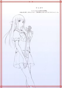 Rating: Safe Score: 6 Tags: line_art noantica ooji seifuku thighhighs User: fireattack