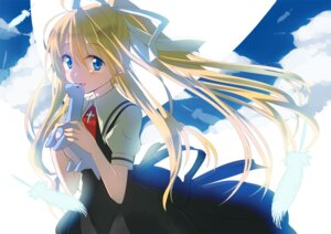 Rating: Safe Score: 20 Tags: air gochou_(comedia80) kamio_misuzu seifuku wings User: fairyren