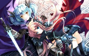 Rating: Safe Score: 41 Tags: armor sword thighhighs xephonia User: fairyren