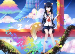 Rating: Safe Score: 45 Tags: .l.l animal_ears kitsune seifuku tail User: KazukiNanako