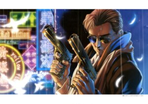 Rating: Safe Score: 8 Tags: black_lagoon gun hiroe_rei male mr._chang User: drop
