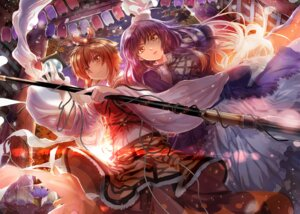 Rating: Safe Score: 20 Tags: asuka_(moto) hijiri_byakuren toramaru_shou touhou User: Mr_GT