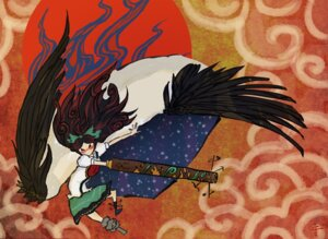 Rating: Safe Score: 6 Tags: reiuji_utsuho ryokosan touhou wings User: konstargirl