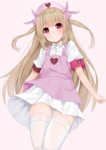 Rating: Questionable Score: 23 Tags: hashiko_nowoto natori_sana nurse sana_channel skirt_lift thighhighs User: sym455
