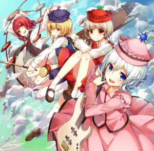 Rating: Safe Score: 21 Tags: guitar lunasa_prismriver lyrica_prismriver merlin_prismriver nonomaro touhou User: Mr_GT