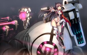 Rating: Questionable Score: 70 Tags: bikini_armor cleavage heels mecha_musume thighhighs weiyinji_xsk User: Mr_GT