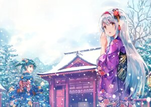 Rating: Safe Score: 146 Tags: hiten kantai_collection kimono shoukaku_(kancolle) zuikaku_(kancolle) User: Mr_GT