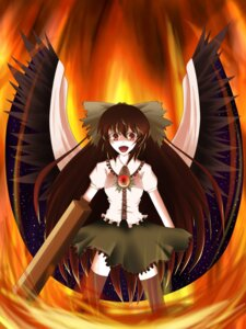 Rating: Safe Score: 5 Tags: hasewox reiuji_utsuho thighhighs touhou wings User: charunetra