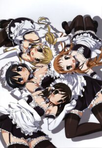 Rating: Safe Score: 26 Tags: cleavage he_is_my_master kurauchi_anna maid overfiltered sawatari_izumi sawatari_karin sawatari_mitsuki stockings thighhighs User: Angel24