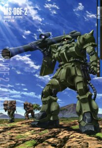 Rating: Safe Score: 10 Tags: gundam gundam_0083 mecha ms-06_zaku_ii takase_kenichi User: Radioactive