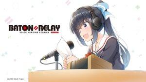Rating: Safe Score: 8 Tags: baton=relay headphones hinata_hasumi seifuku wakaki_tamiki wallpaper User: saemonnokami